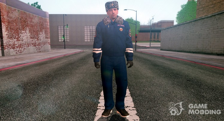 DPS officer in winter form