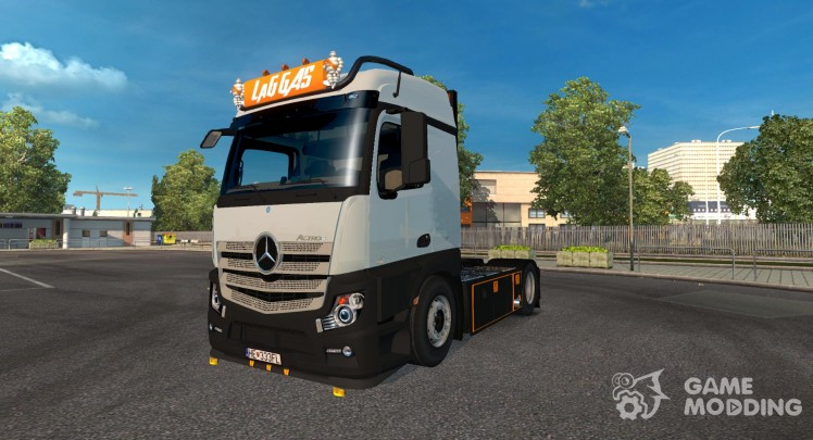 Mercedes Actros MP4 LaG Logistic Skin