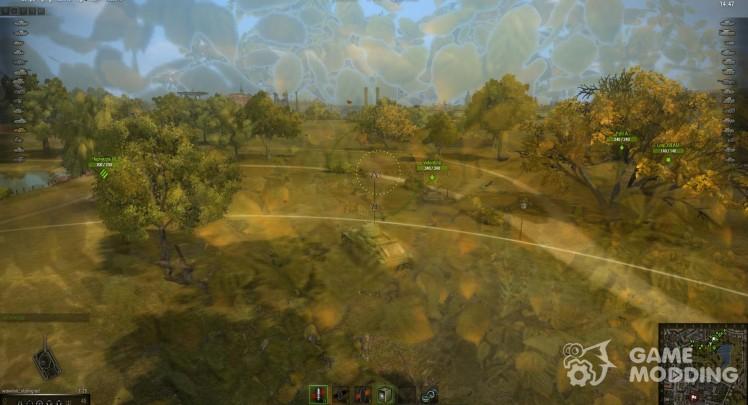 Дамаг панель для World of Tanks