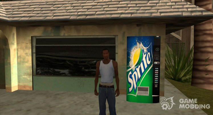The soda machine Sprite