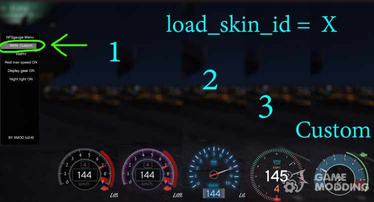 NFS gauge-RPM Gear Speedometer and Timer v 2.5.3
