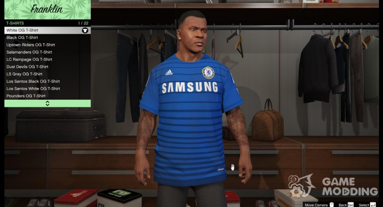 Chelsea shirt for Franklin