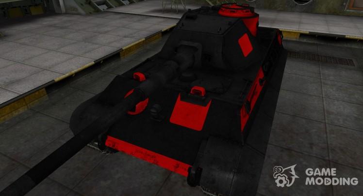 Черно-красные зоны пробития PzKpfw VIB Tiger II