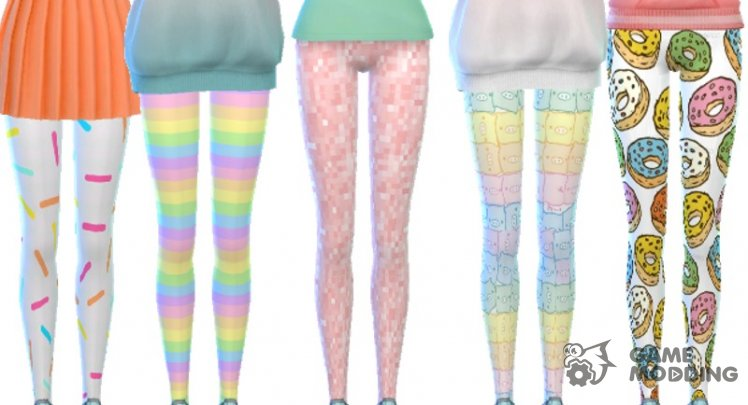 Tumblr Themed Leggings Pack Of Ten