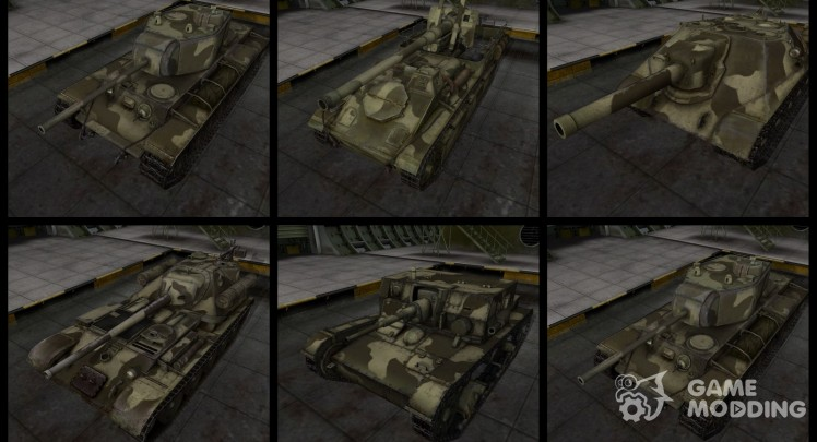 Pustynyj Pack for Russian tanks