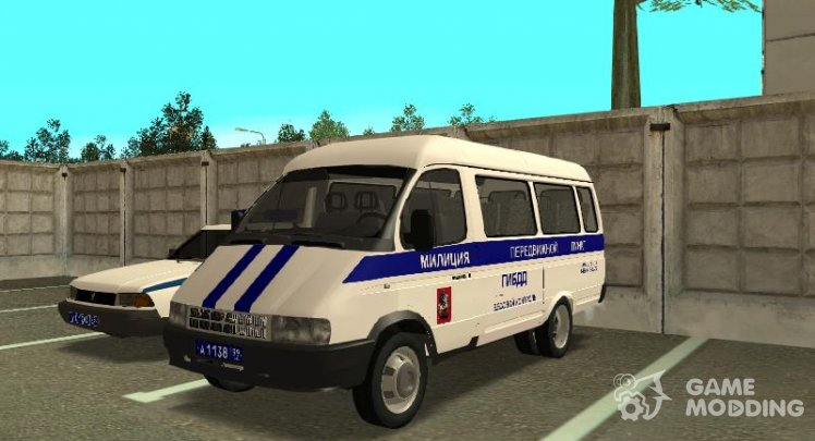 GAZelle 32213 Mobile station traffic police