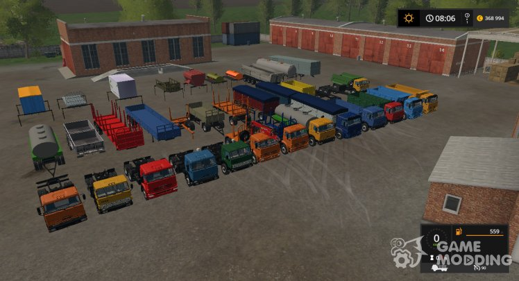 KamAZ pack version 1.8 PF