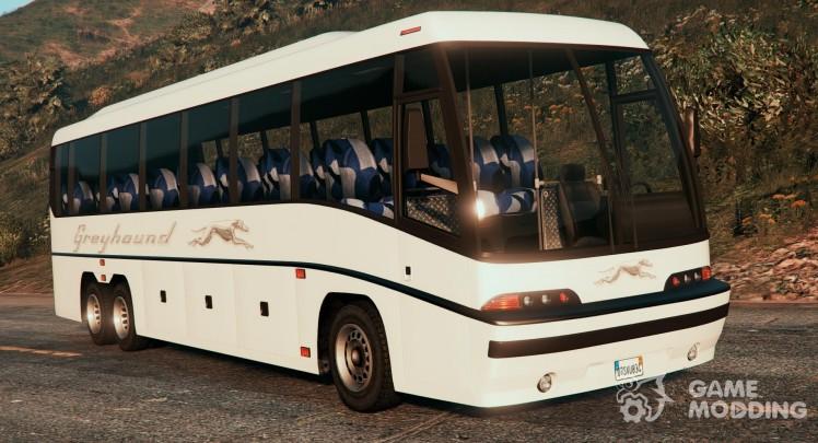 Coach bus with enterable interior v2