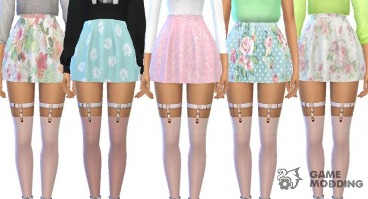 Pastel Skater Skirts - Mesh Needed