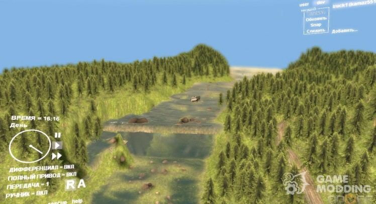 Map of the German forest 001