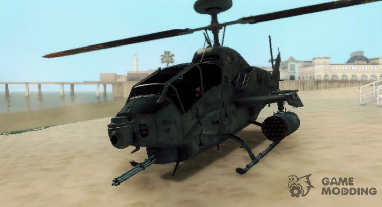 AH 1W Super Cobra Gunship
