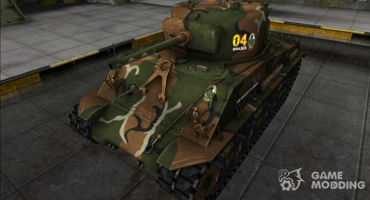 The skin for the M4A3E8 Sherman
