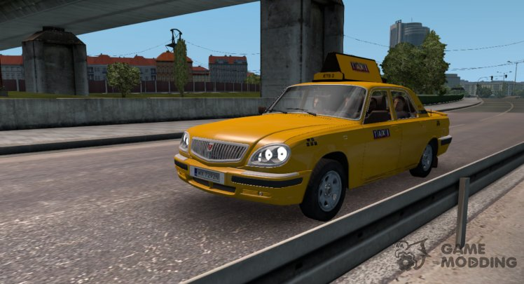 GAZ 31105 Taxi in traffic v1. 1