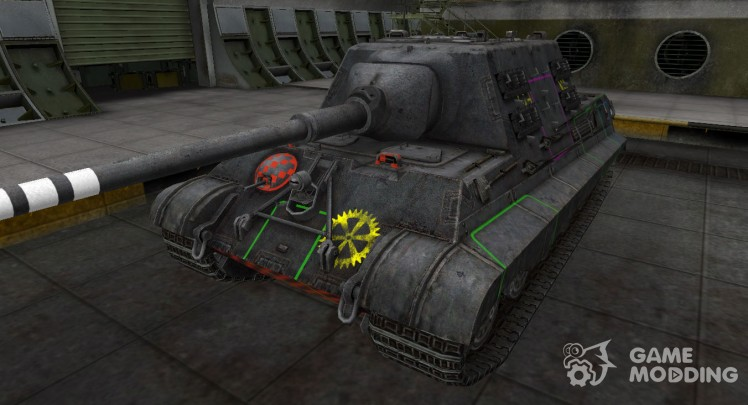 Contour zone breakthrough 8.8 cm Pak 43 JagdTiger