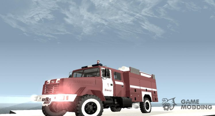 KrAZ - 5233 Fire in Vinnitsa