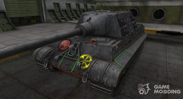 Контурные зоны пробития Jagdtiger