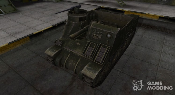 The skin for the American M7 Priest tank