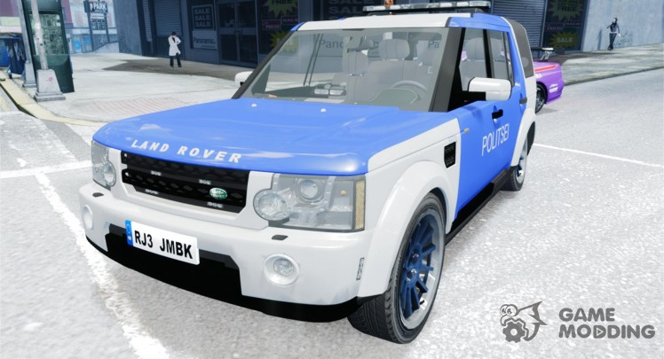 Estonian Police Discovery 4 Land Rover