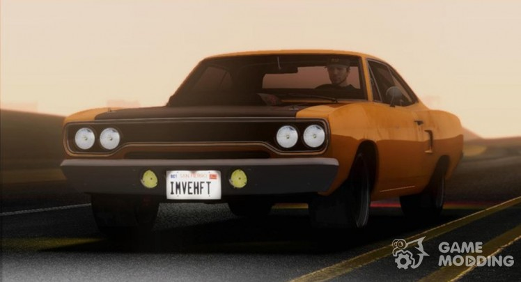 1970 Plymouth Road Runner Fast and Furious 7 Edition для GTA San Andreas