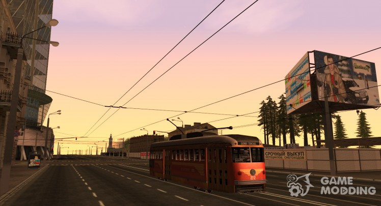 A PCC tram from the game L. A. Noire