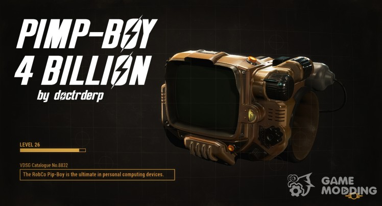 Pimp-Boy 4 .2billion (Golden Pip-Boy)