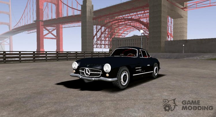 1955 Mercedes-Benz 300SL (Low Poly)