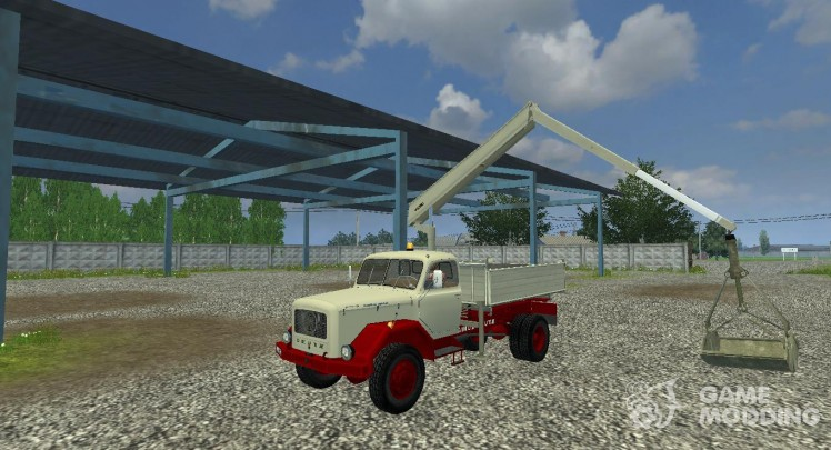 Magirus Mounted Crane With Bucket v 1.1