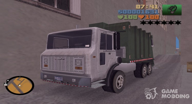 Garbage Truck HQ for GTA 3