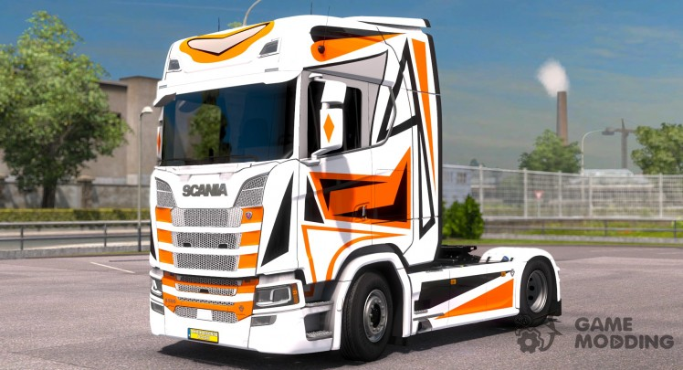 Orange Black for Scania S580