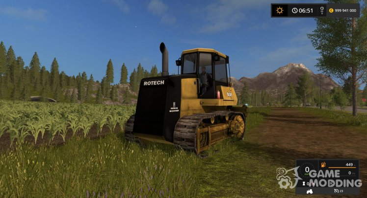 Bulldozer Rotech 830 for Farming Simulator 2017