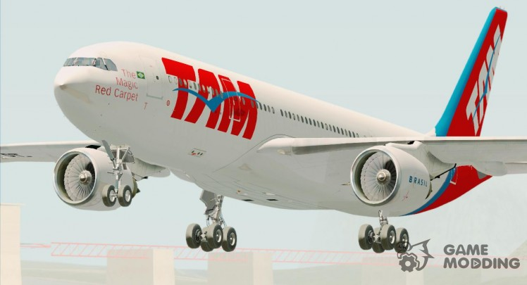 The Airbus A330-200 TAM Airlines (PT-MVQ)