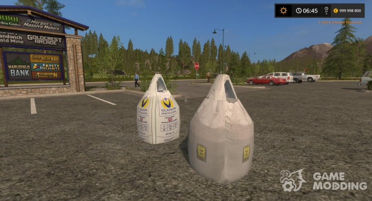 Bags of fertilizer and seeds for Farming Simulator 2017