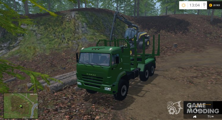 KamAZ-44118 Timber with avtopogruzchik