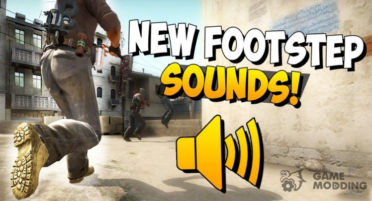 The sound of footsteps from CS:GO