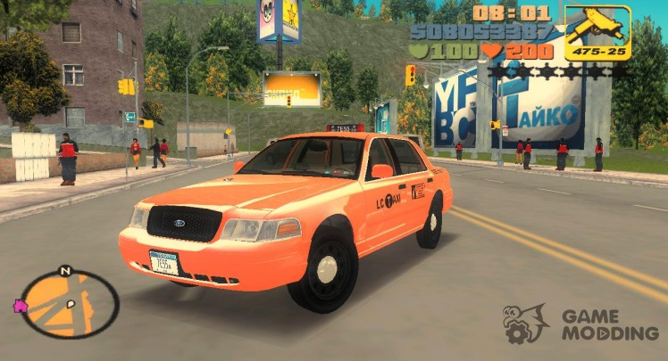 Ford Crown Victoria P70 LWB Taxi 2007-2011 г