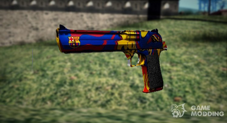 DESERT EAGLE IN THE STYLE OF FC BARCELONA