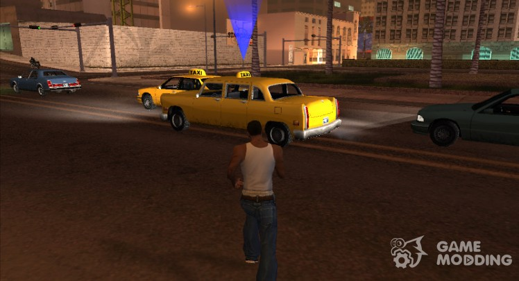 A taxi to the mission in GTA VC