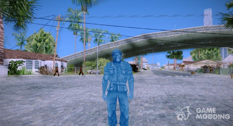 Blue Solider from Army Men Serges Heroes 2