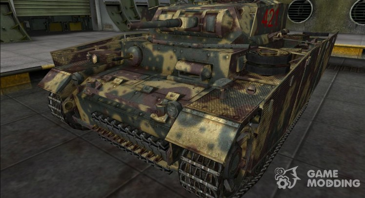 The skin for the Panzer III