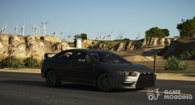 Mitsubishi Evo X Unmarked Police Car (Fictional)