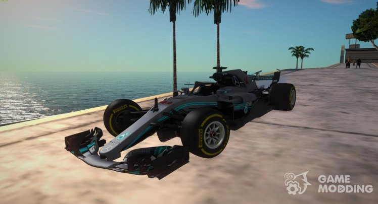 Mercedes-AMG F1 W09 EQ Power 2018 for GTA San Andreas