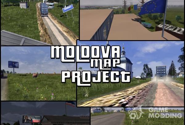Map of the Republic of Moldova v. 0.1
