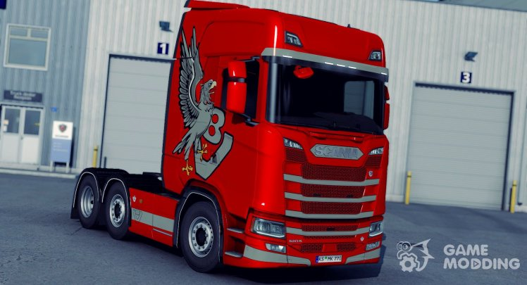 GRIFFIN V8 metalic Multicolor para Scania SCS