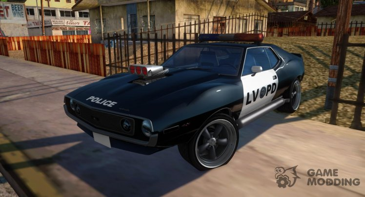AMC Javelin AMX 401 1971 LVPD Police Drag for GTA San Andreas