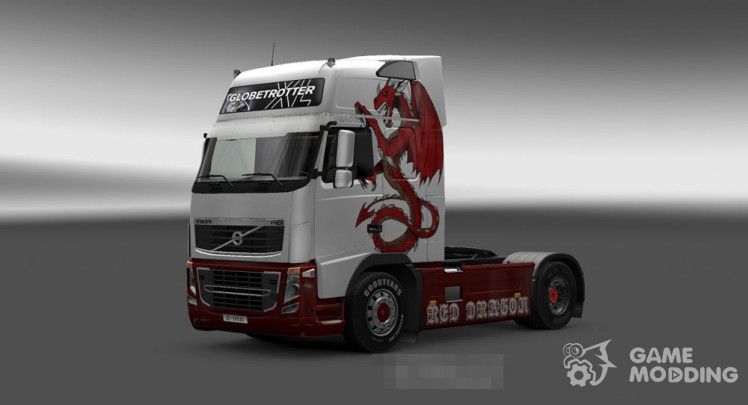 Skin for Volvo FH 2009 Red Dragon