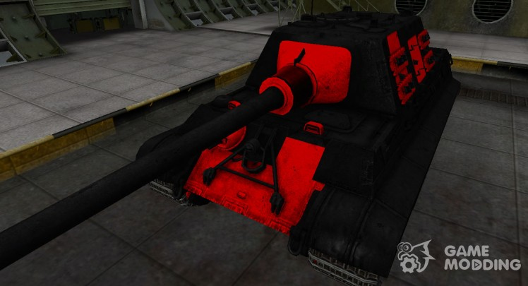 Черно-красные зоны пробития Jagdtiger