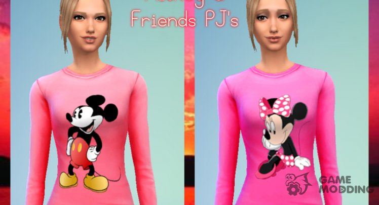 Mickey And Friends Pajama Set