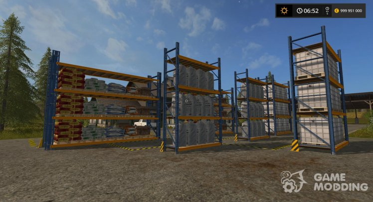 Racks for storage of seeds for Farming Simulator 2017