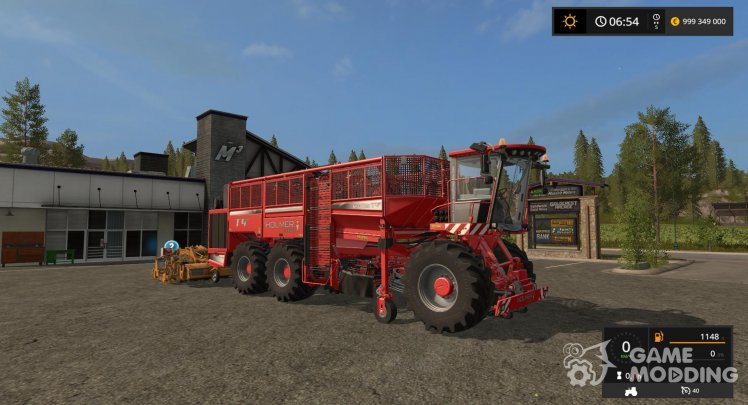 Holmer harvester for harvesting beets, carrots and onions for Farming Simulator 2017