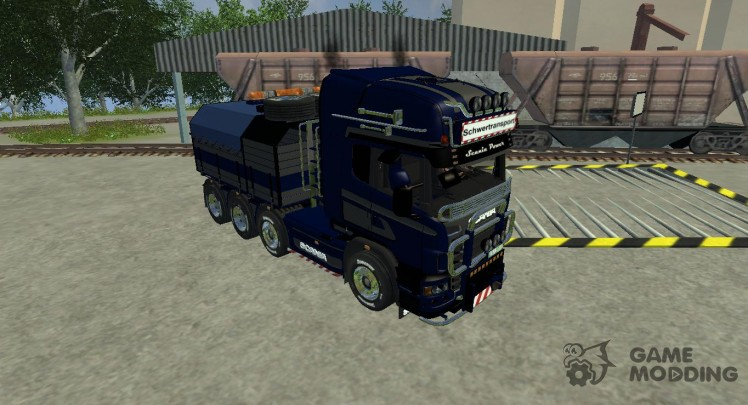 Scania R560 Templer Edition blue Plane